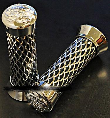 aluminum alloy handle bar grips fish skin