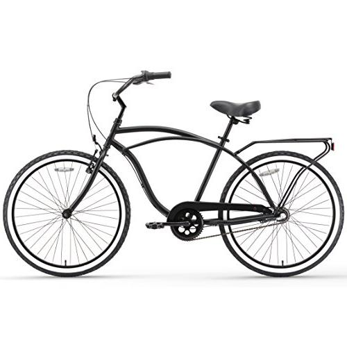 sixthreezero Around Men's 3-Speed Matte w/ Black Seat/Grips, 26""
