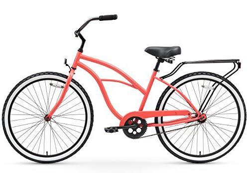 """sixthreezero Around The Women's Bicycle, Black Seat/Grips, 26"""""""