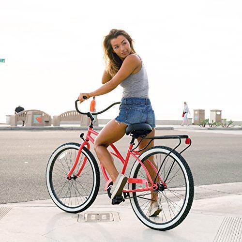 "sixthreezero Women's Cruiser Bicycle, w/ Seat/Grips, 26"" Wheels/17"" Frame"