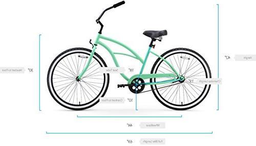 Women's Bicycle, Black Seat/Grips, Frame