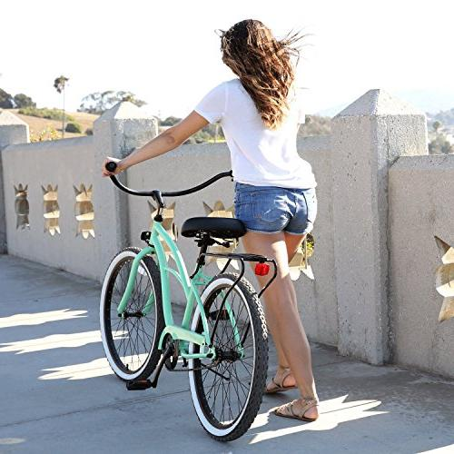 sixthreezero Around Women's Bicycle, Mint Black Seat/Grips, Frame