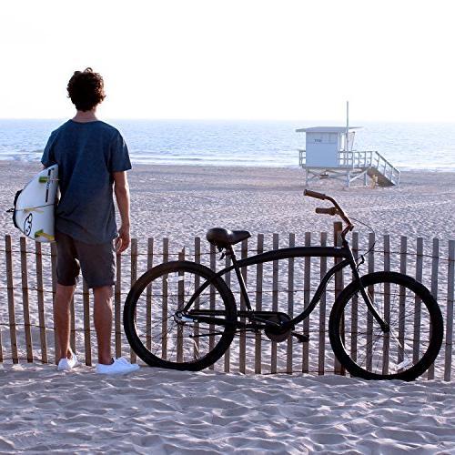 sixthreezero Men's Barrel Beach Bicycle, Matte Black Seat/Grips, Frame