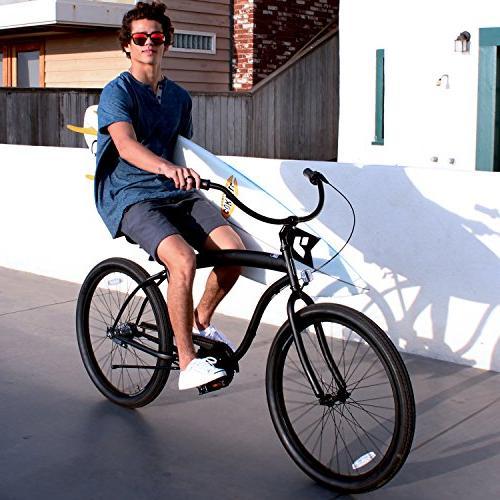 "sixthreezero In Bicycle, Black w/Black Seat/Grips, 26"" 18"" Frame"