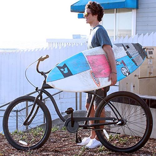 "sixthreezero Men's The Barrel Beach Bicycle, Seat/Grips, 26"" Frame"