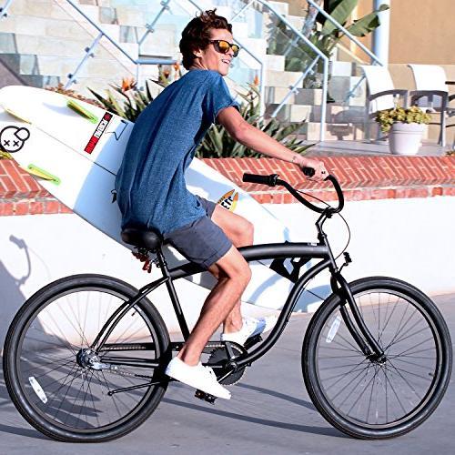 "sixthreezero In Barrel 3-Speed Bicycle, Black w/Black Seat/Grips, 26"" Wheels/ 18"" Frame"