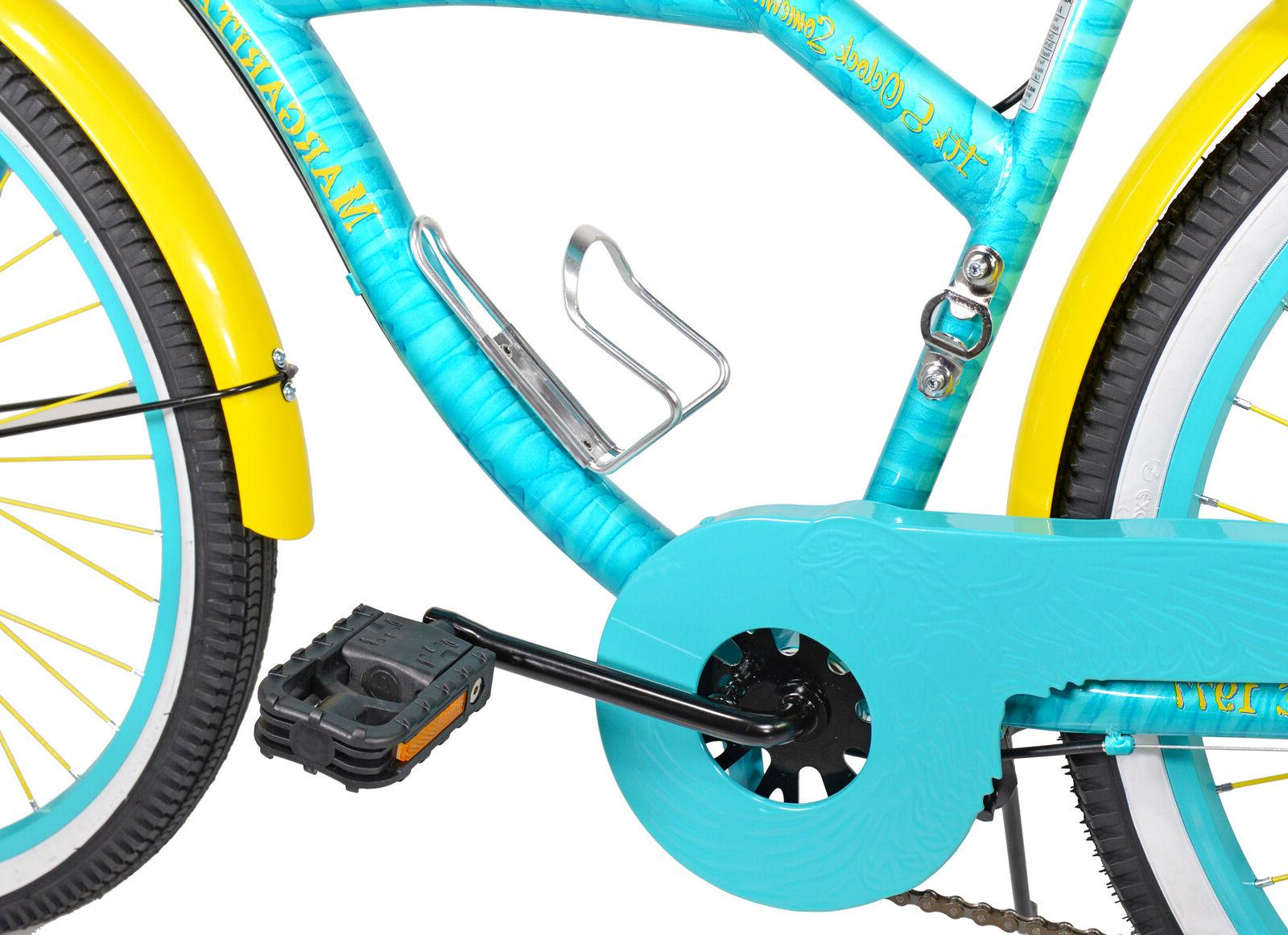 "BCA 26"" Margaritaville Multi-Speed Cruiser Bike,"