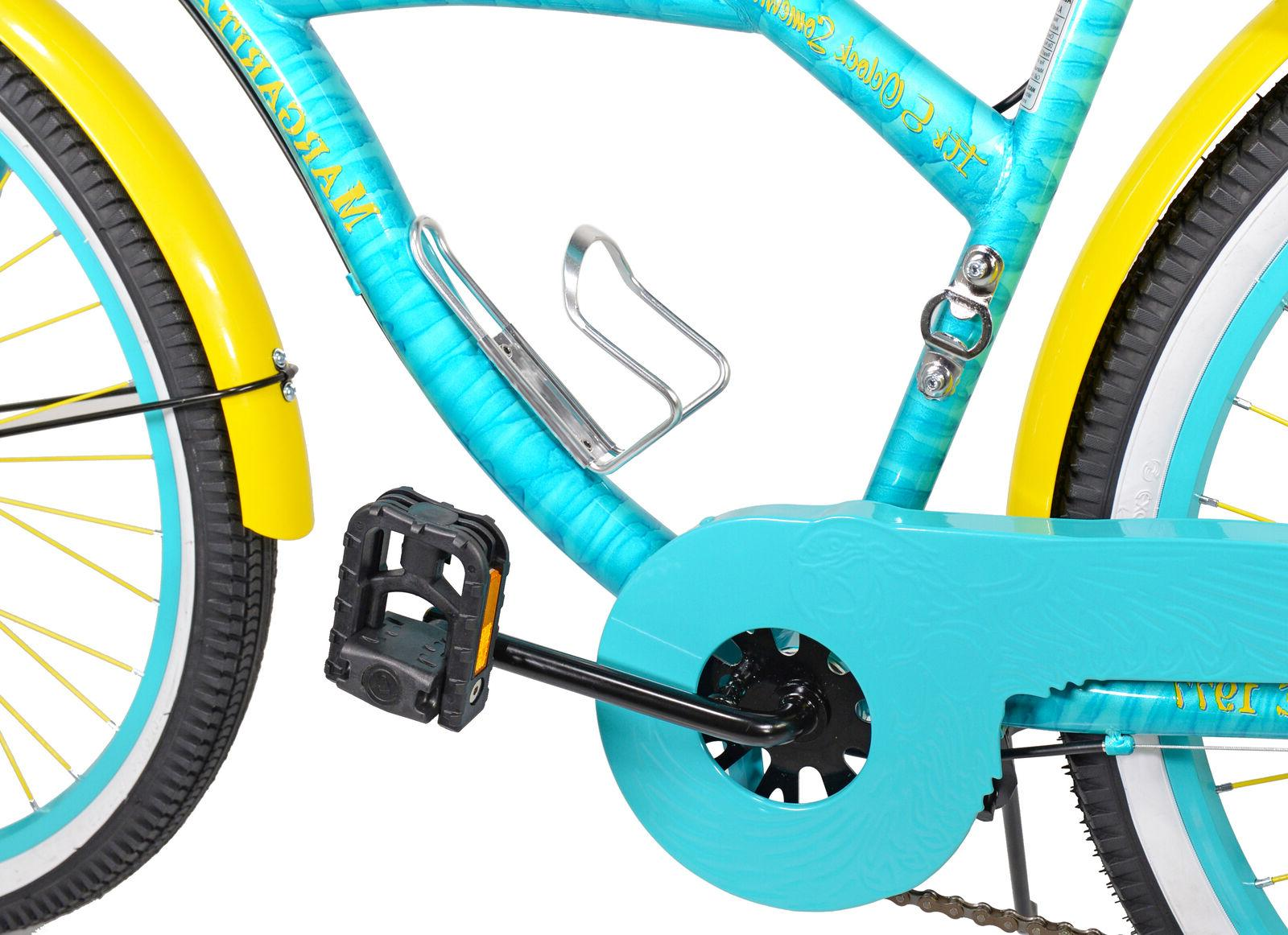 "BCA 26"" Women's, Margaritaville Multi-Speed Cruiser Teal"