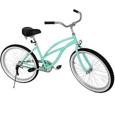 "Beach Cruiser Bike 24"" Beach Cruiser Bicycle Cycling Steel S"