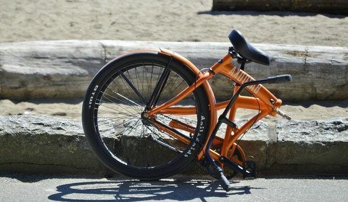 full size beach cruiser folding bike 8
