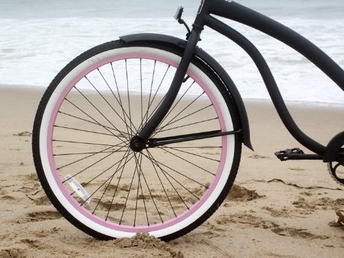 Women's Bella Cruiser Bike, Black with Green