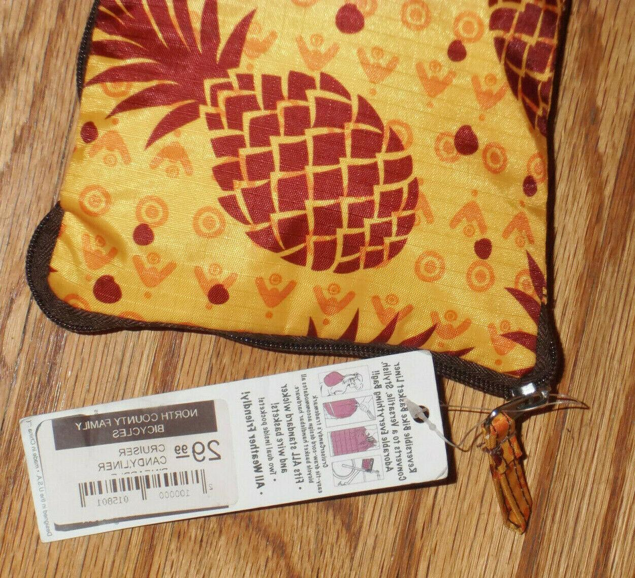 CRUISER Bicycle LINER~Pineapples~Compact/Convertible/Fits All NWT