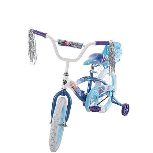 "16"" Huffy Disney Blue Swirly Girls with Training and"