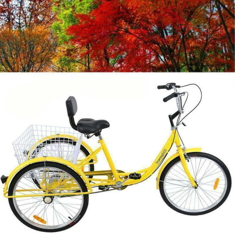 black 3 wheel tricycle bike