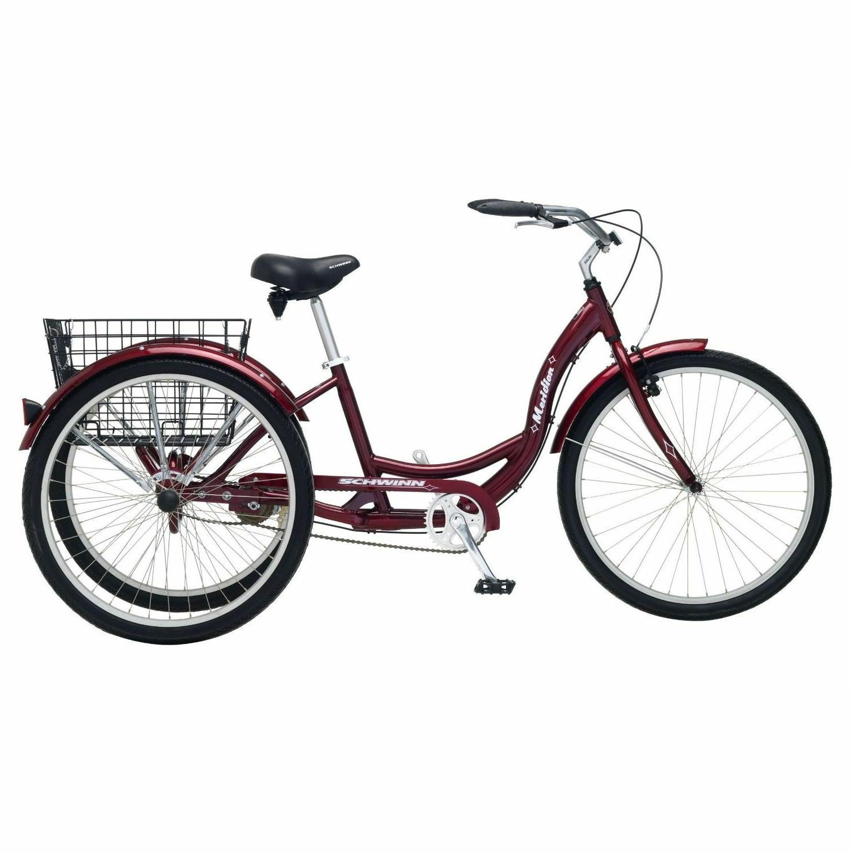 black cherry adult 3 wheel cruiser bike