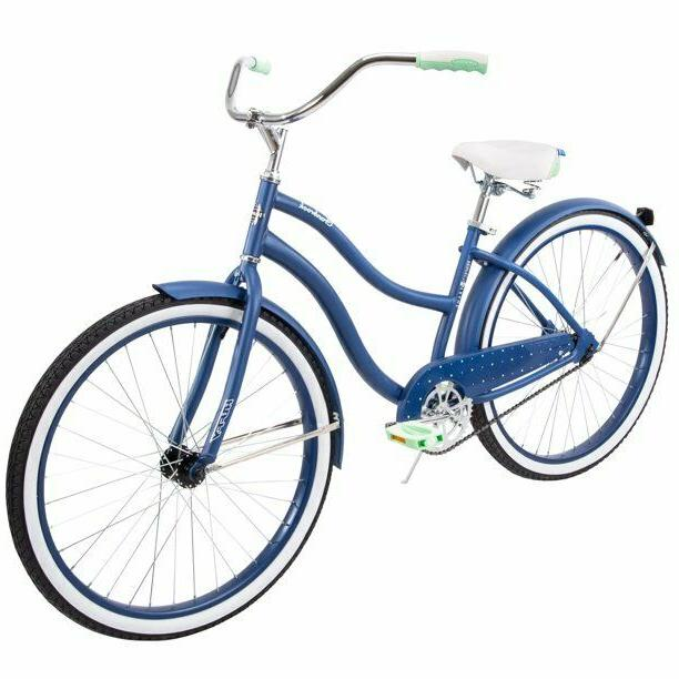 blue cruiser bike 26 steel women comfort