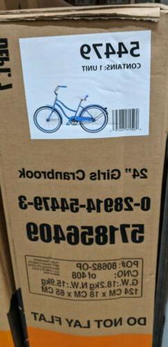 "Brand New in the Box Huffy 24 GIRLS Cranbrook"" Cruiser Bike"