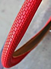 """Duro Brick Tread Bicycle Tire, 26"""" x 2.125"""" - RED, for Beach"""