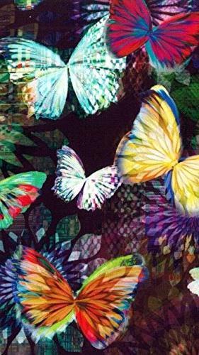 butterfly bike basket liner tote
