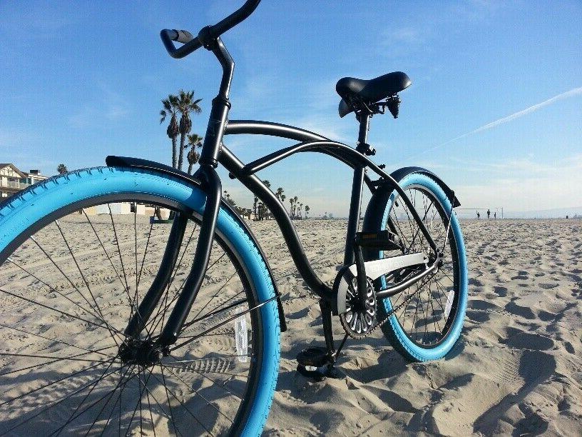 colorful cruiser bike tire beach cruiser bike