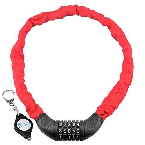 combination bike chain lock