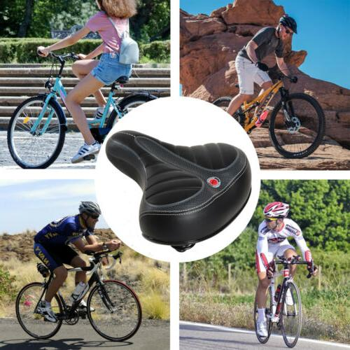 Comfort Bike Seat Replacement Bicycle Saddle Wide Soft Outdoor