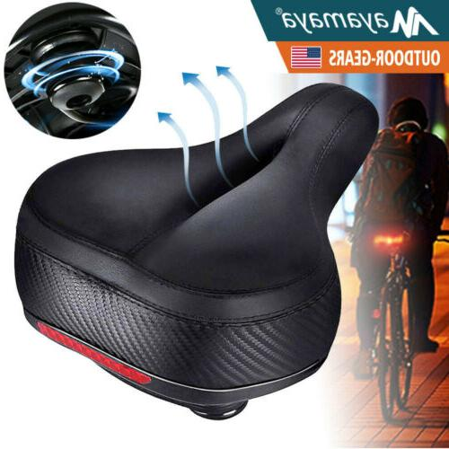 comfort wide bike seat cushion soft padded
