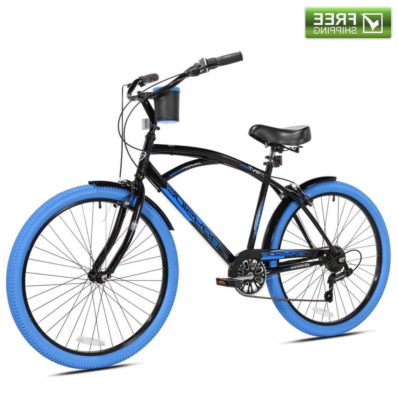 cruiser bike men 26 black comfort beach