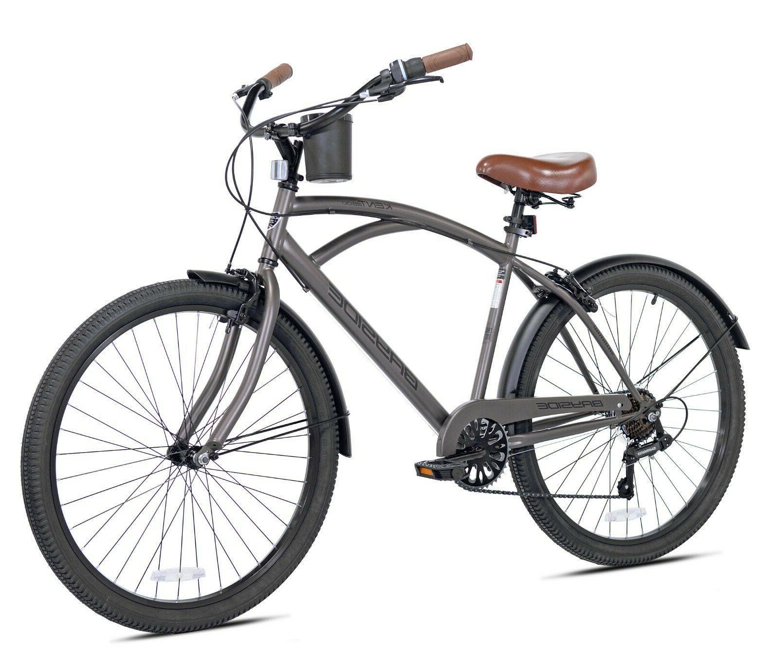 """Kent Cruiser Bike Men 26"""" Gray Comfort Beach City Commuter"""