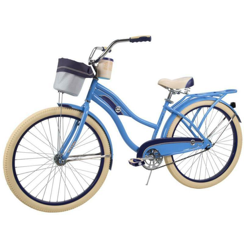 Deluxe 26 In. Women'S Classic Cruiser Bike Steel Frame Wide