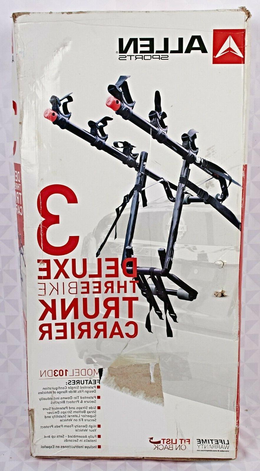 deluxe trunk mount 3 bike carrier model