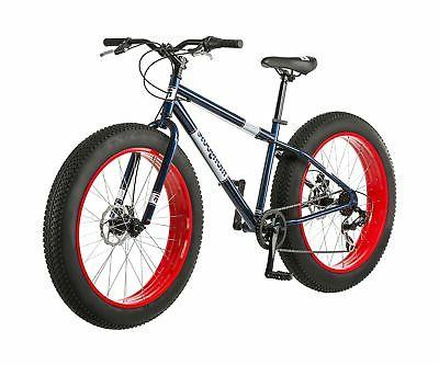 """26"""" Mongoose Dolomite 7-speed All-Terrain Mountain Blue/Red"""