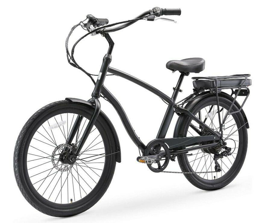 evryjourney men s hybrid alloy cruiser bike