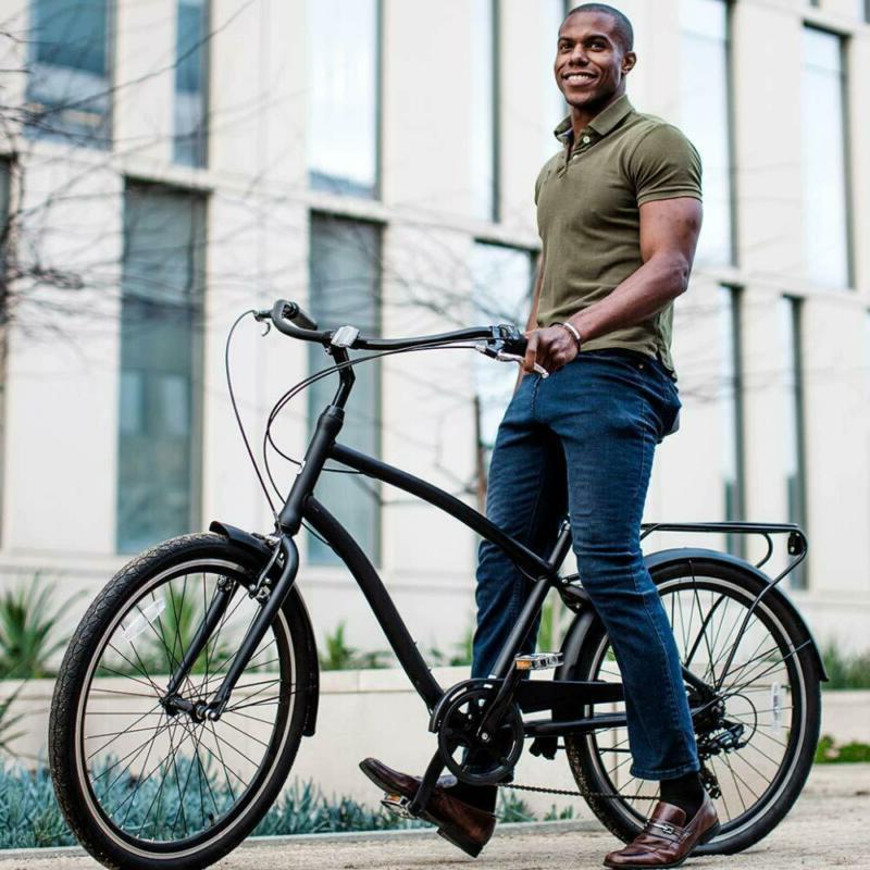 "Sixthreezero Evryjourney Men'S Hybrid Cruiser Bicycle, 26"" Wheels/ 19"""