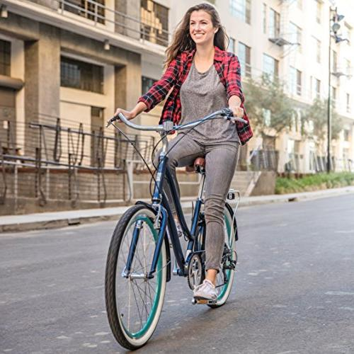 "sixthreezero Speed Step-Through Bicycle, Navy Seat/Grips, 26"" Wheels/ Frame"