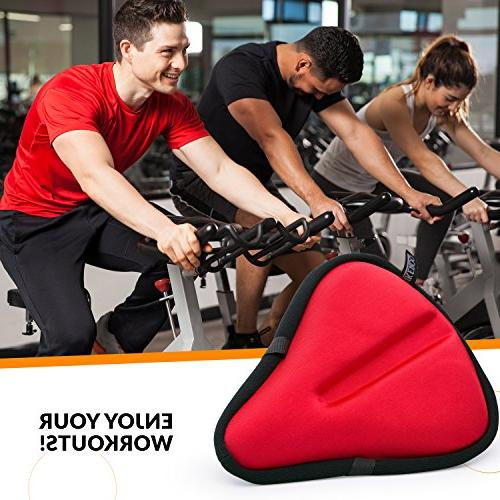 Bikeroo Bike Seat - Bicycle Wide Soft - Most Saddle Cover and Bike seat Gel Cover Cruiser and Stationary Bikes, Cycling