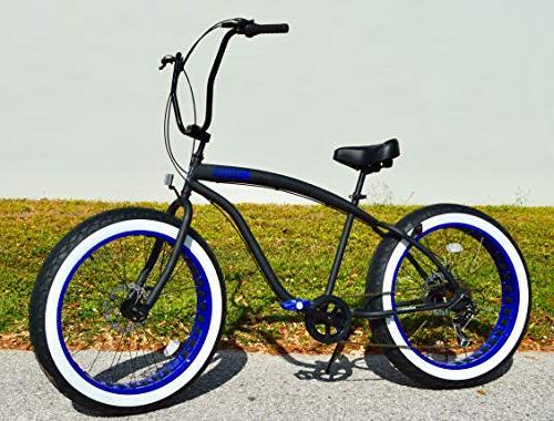 fat tire beach cruiser bicycle
