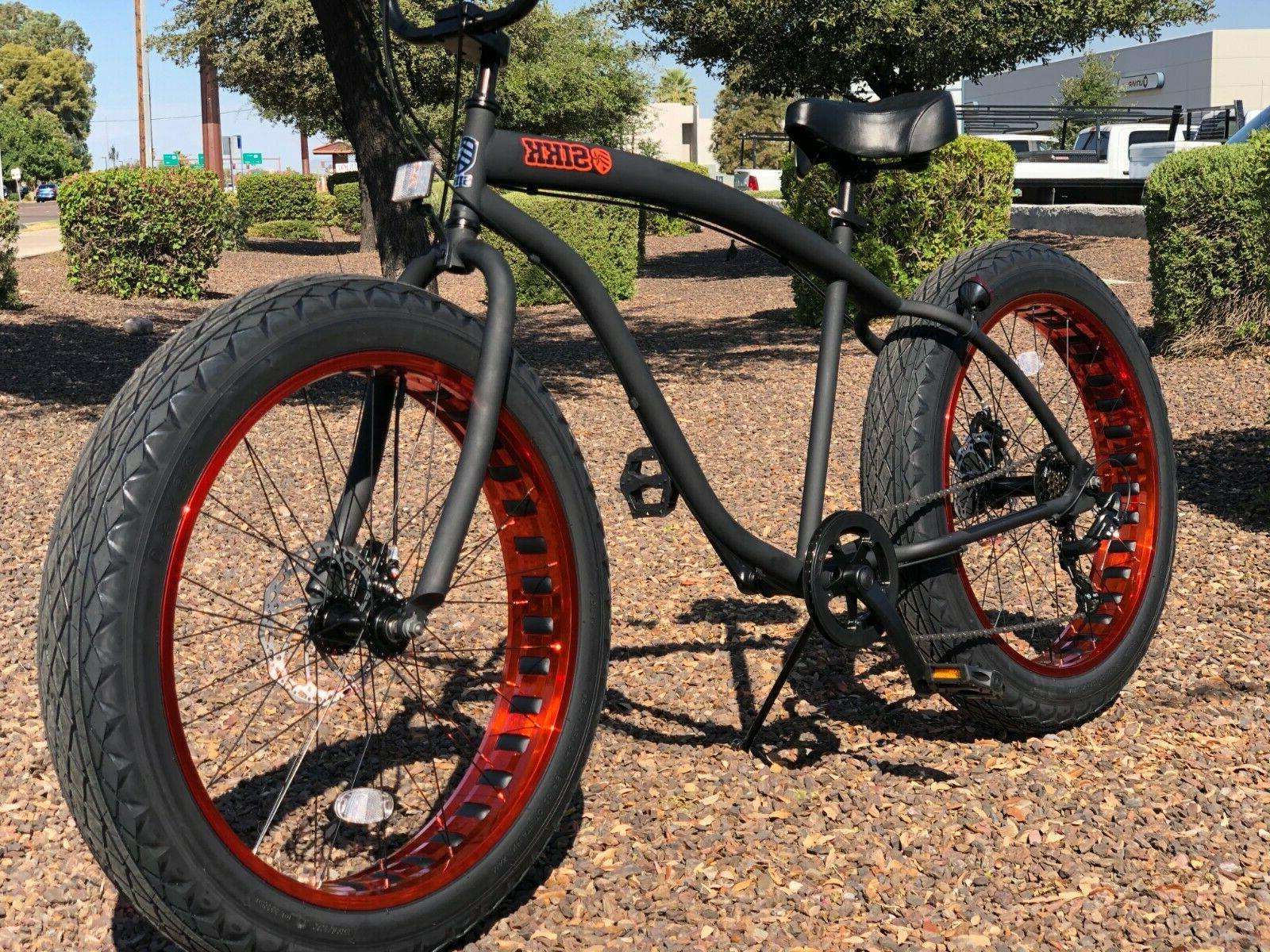 Bike Flat Black w - SPEED-CUTOUT RIMS