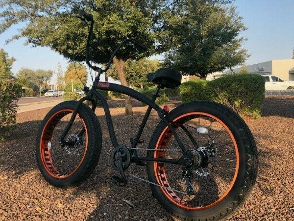 Fat Beach Bike 🌴 Flat Black w - SPEED-CUTOUT