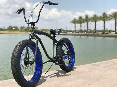 Fat Tire Bike Flat w SPEED-CUTOUT RIMS