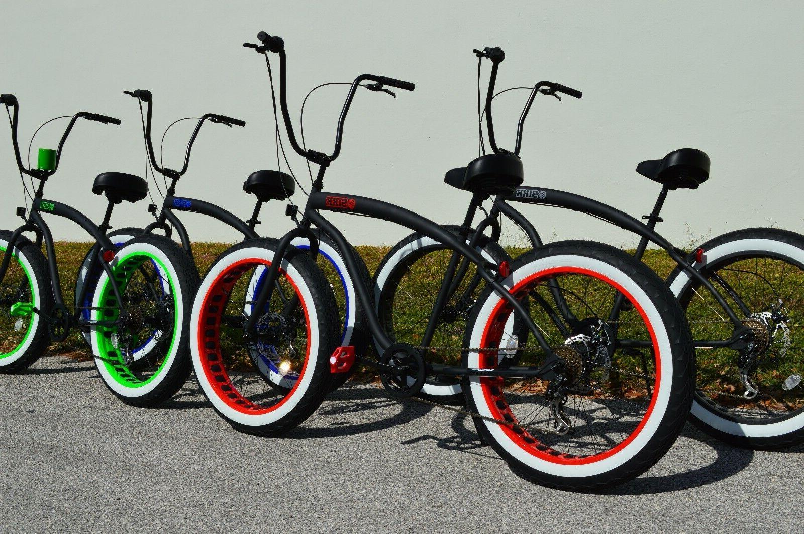 Fat Beach Bike w Tires SPEED-CUTOUT RIMS