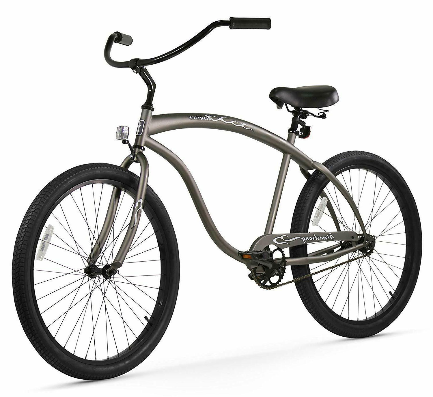 Firmstrong Bruiser Man Speed Cruiser Bicycle, 26-Inch, Black/Red