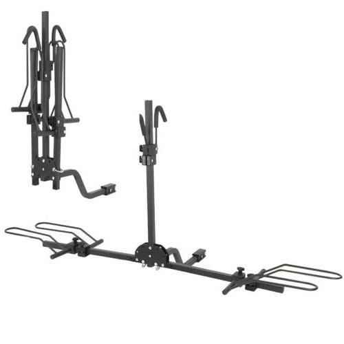 Fold-able Tilt 2 Bike Carrier Platform Hitch Bicycle Rack 1-
