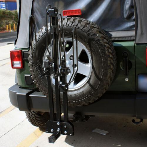 """Foldable Tilt Bike Carrier Platform Rack Bicycle 1-1/4"""" 2"""" Receiver"""
