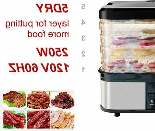 5 Tray Dehydrator Dryer Beef