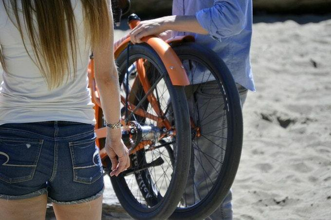 full size belt drive cruiser folding bike