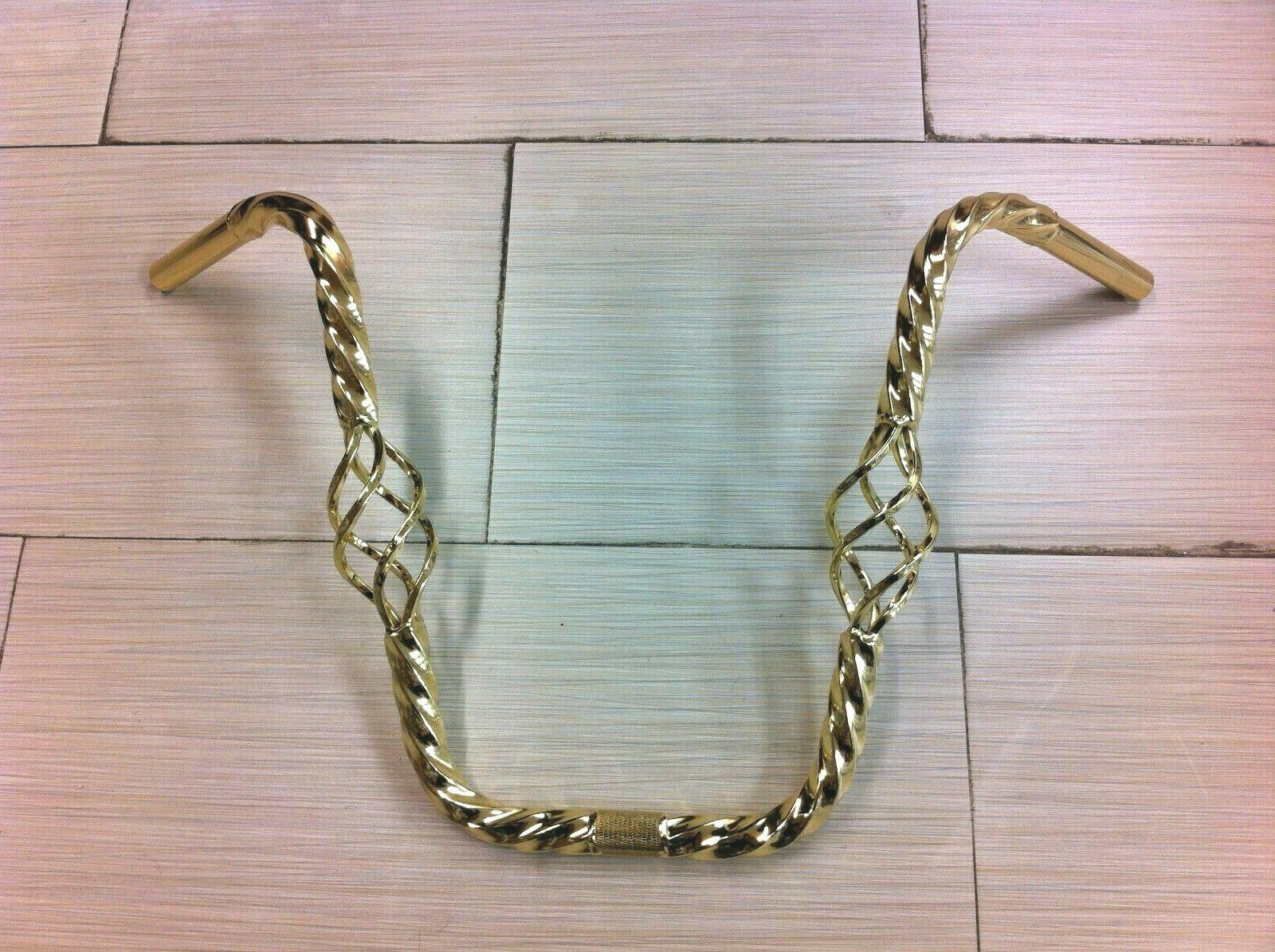 gold caged twisted bicycle handlebar 16 rise