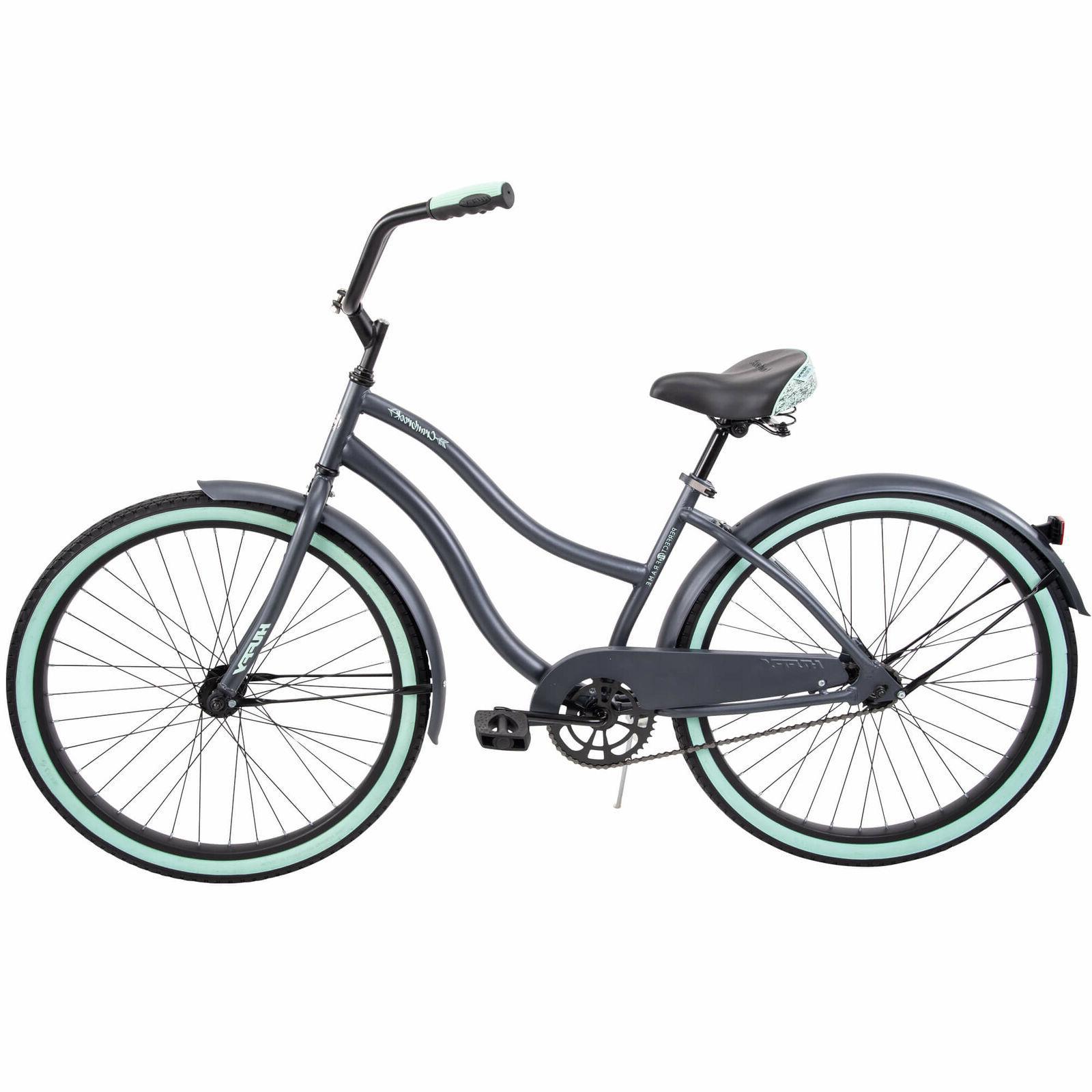 Gray Cruiser Bike Women Comfort City Beach Commuter Frame