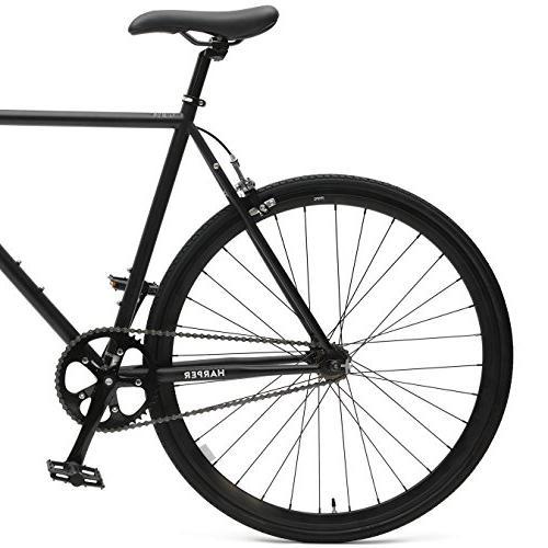 Retrospec Critical Single-Speed Commuter Bike; Black
