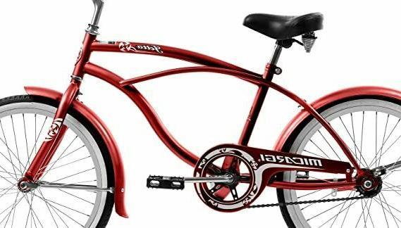 Micargi JETTA-M-RED Beach Cruiser Red Coaster